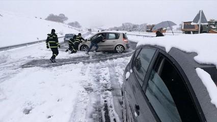 L'endemà de la nevada al centre d'Espanya