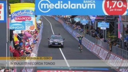 Contador aguanta com a líder del Giro