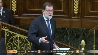 """Rajoy diu que el 155 """"és l'única resposta possible"""" per restablir la legalitat"""