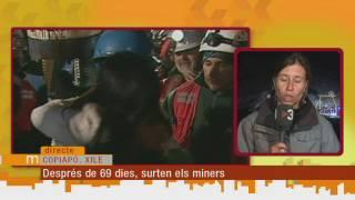 Eufòria i emoció en el rescat dels primers miners xilens