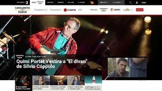 Una imatge de la pàgina web de Catalunya Ràdio