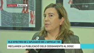 """""""L'aplicació del 155 repercuteix en la feina diària dels funcionaris"""", afirma la presidenta de ServidorsCat"""