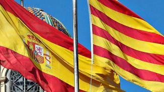 banderes catalana i espanyola