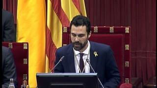 Inaugurada la legislatura que tindrà Roger Torrent president del Parlament