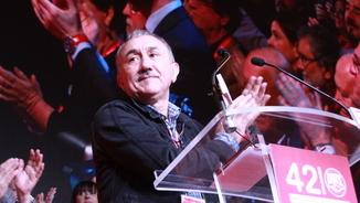 Josep Maria Álvarez en el seu discurs al Congrés de la UGT (ACN)