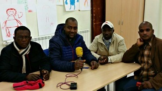 Imatge de la trobada amb Catalunya Ràdio