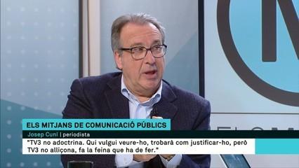 """Josep Cuní: """"TV3 no alliçona, fa la feina que ha de fer"""""""