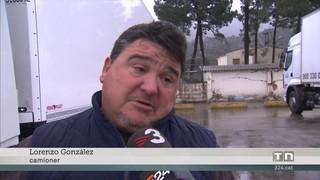 Els milers de camions a la Jonquera marxen esglaonadament dels aparcaments