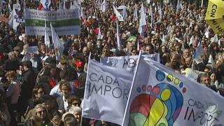 Manifestació contra la reforma de la llei de l'avortament