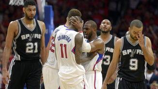 L'alegria dels Clippers i la decepció dels Spurs (EFE)