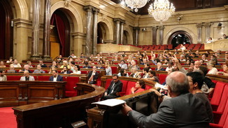 Imatge general de l'hemicicle del Parlament