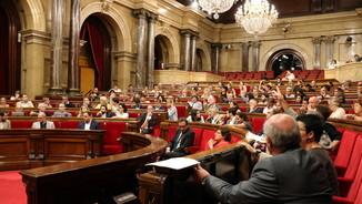 Imatge general de l'hemicicle del Parlament