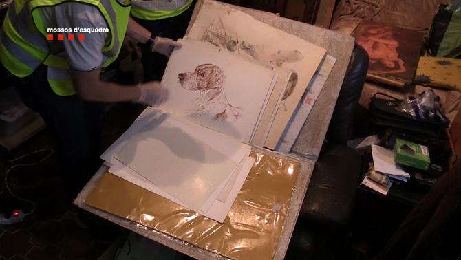 Dos detinguts acusats de vendre obres d'art robades en habitatges de Catalunya i França