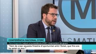 """Pere Aragonès: """"Plantegem un diàleg sense condicions amb l'estat espanyol, però sense renúncies"""""""