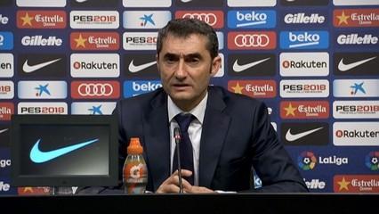 "Valverde: ""Alcácer ha fet un gran partit"""