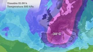Evolució de temperatures 500 hPa