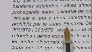 Alcarràs i la Fuliola mantenen llaços grocs tot i el requeriment de la Junta Electoral