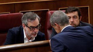 José Manuel Villegas al seu escó al Congrés (EFE)