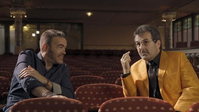 Tian Riba conversant amb Xavier Sala i Martín