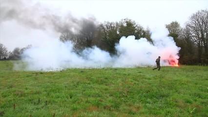 Desallotjament d'ecologistes d'uns terrenys al nord-oest de França