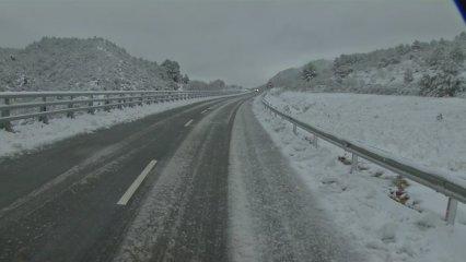 Temporal de neu a la Terra Alta