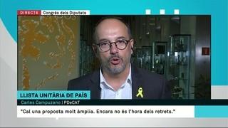 """Carles Campuzano (PDeCAT): """"Catalunya necessita a Madrid veus que denunciïn el 155 i l'existència de presos polítics"""""""