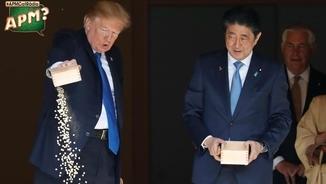 Les cagades protocol·làries de Trump al Japó