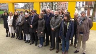 Foto de família de Junts per Catalunya a Brussel·les