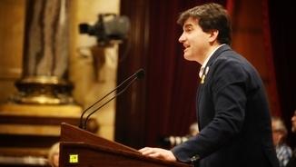 Sergi Sabrià, portaveu d'ERC, intervé en el ple d'investidura de Jordi Turull (ACN)