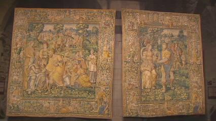 La Seu Vella de Lleida torna a lluir la seva col·lecció de tapissos