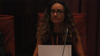 La directora interina de l'Oficina Antifrau de Catalunya, Maite Masià, a la comissió del Parlament