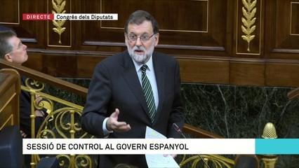 """Rajoy: """"Puigdemont ha tancat el Parlament per no explicar si ha declarat la independència"""""""