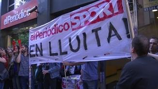 """Protestes per l'ERO a """"El Periódico"""" i """"Sport"""""""