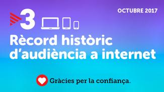 Rècord històric d'audiència a internet