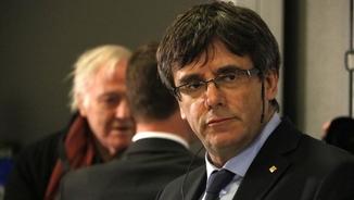 Carles Puigdemont, en el debat sobre Catalunya de la Universitat de Copenhaguen (ACN)