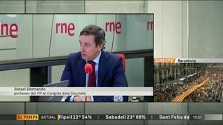"""Rafael Hernando diu que l'aturada del 3-O és """"de caràcter nazi"""""""