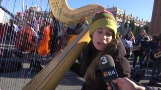10.000 músics per la llibertat, a la plaça Espanya
