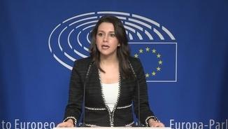 """Arrimadas a Brussel·les: """"Els partits independentistes es neguen a condemnar la violència"""""""