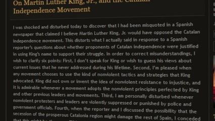 L'Institut Martin Luther King i el moviment independentista català