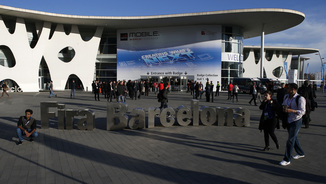 Entrada al Mobile World Congress, a la Fira Gran Via