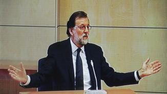 El president del govern espanyol, Mariano Rajoy, en un moment de la compareixença. (Foto: EFE)