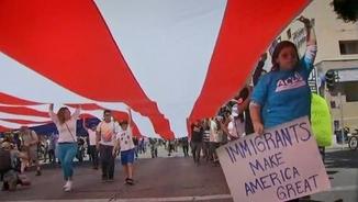 Manifestació contra els plans d'expulsió d'immigrants
