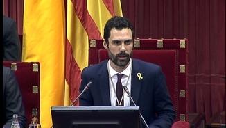 El nou president del Parlament, Roger Torrent