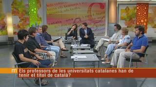 El català a la universitat, a debat
