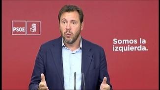 El portaveu de l'executiva del PSOE, Óscar Puente, aquest dilluns a Madrid