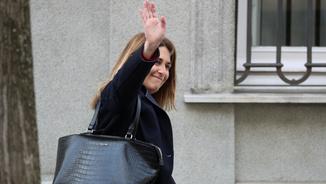 Marta Pascal, aquest dilluns abans d'entrar al Tribunal Suprem (Reuters)