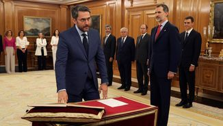 Màxim Huerta, prometent el càrrec de Ministre de Cultura i Esports (Efe)