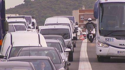 Més trànsit a les entrades i sortides de Barcelona
