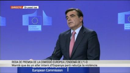 Roda de premsa de la Comissió Europea l'endemà de l'1-0