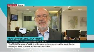 """Terricabras: """"L'estat espanyol està portant les coses a l'extrem"""""""